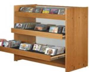 Compact 48H 3 tier CD DVD rack