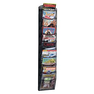 Safco mesh Mag 10 wall rack