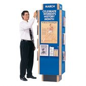 info kiosk blue